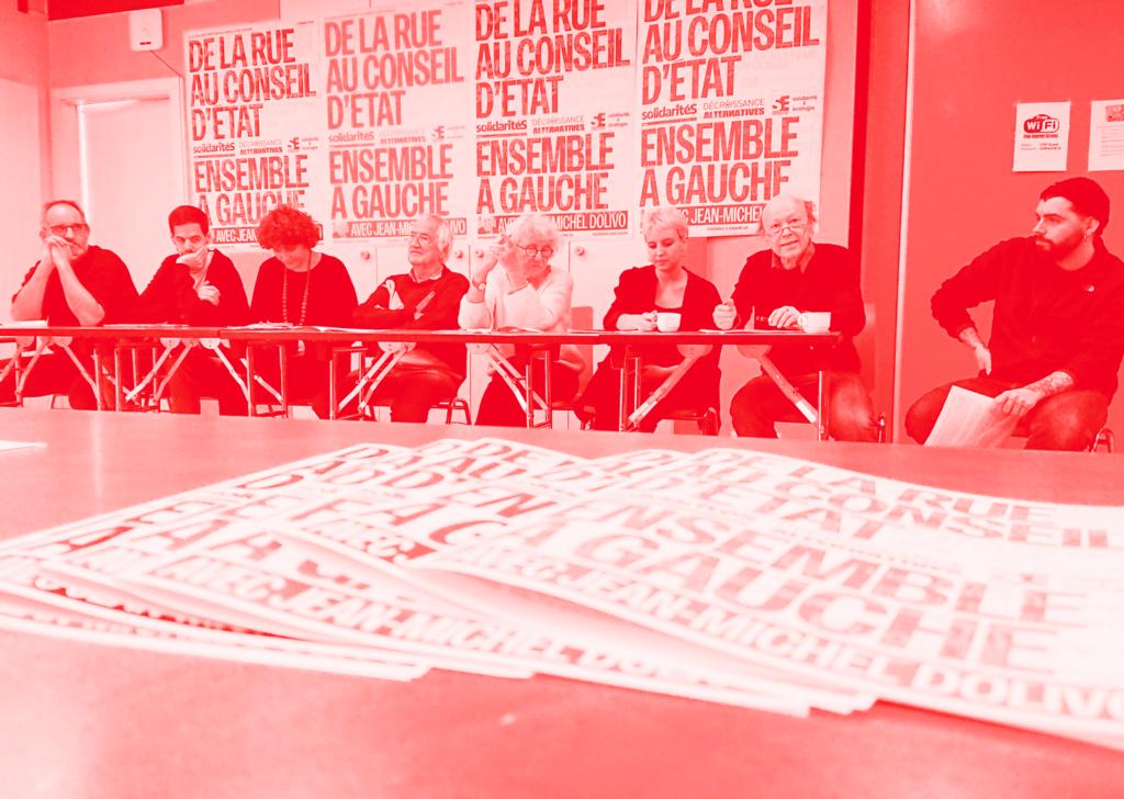 Conférence de presse d'Ensemble à gauche, janvier 2019.