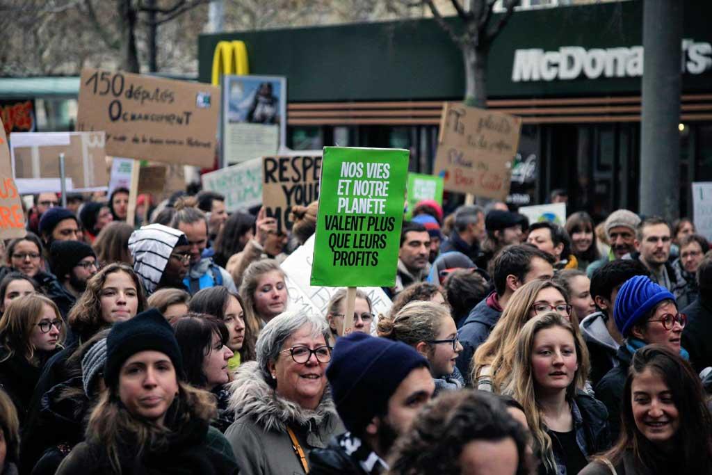 Manifestation pour le climat, lausanne, février 2019