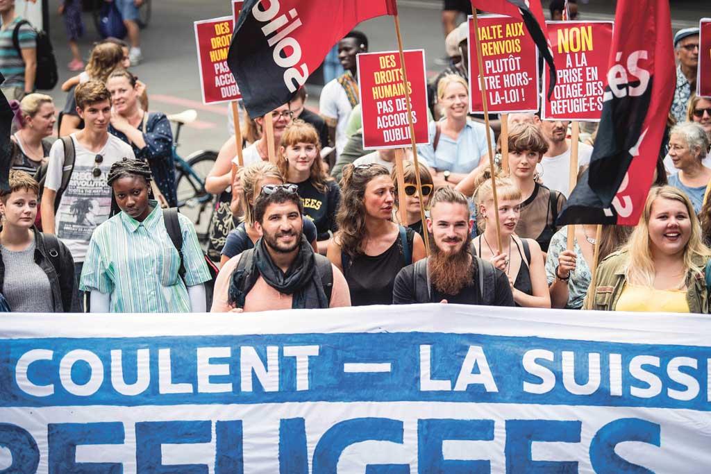 Manifestation contre les renvois Dubli