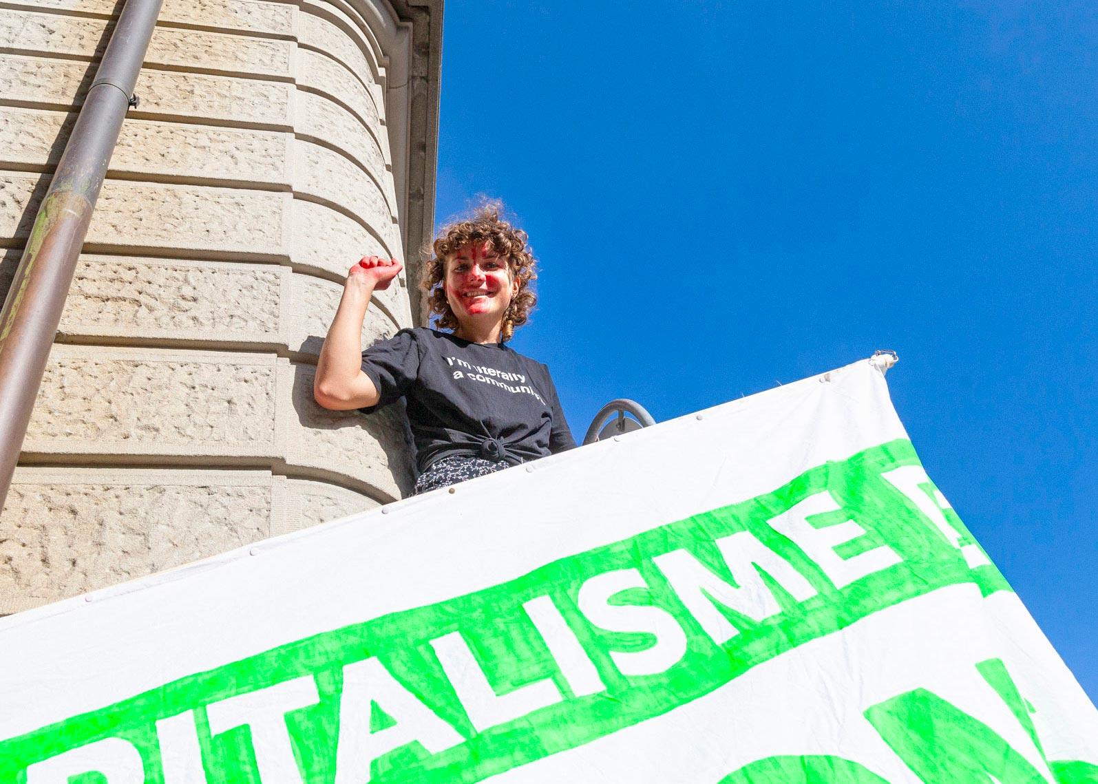 Franziska Meinherz lors de la manifestation pour le climat, Berne, septembre 2019